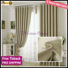 Solid Pattern Modern Window Curtains