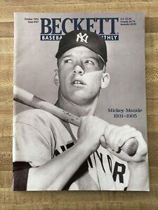 VTG Beckett Baseball Monthly Magazine Mickey Mantle RIP Cover October 1995 #127