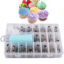 24pcs Icing Piping Nozzle Bakery Set Kit Cupcake Cake Sugarcraft Decorating Tool