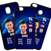 Carcasa Funda De Movil Tpu Personalizada Cromo Carta Jugador Futbol Modo Azul