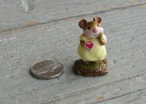 Vtg 1982 Annette Petersen Valentine Love  Box Mini Wee Forest Folk Mouse Figure