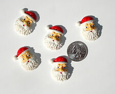 Christmas Santa Claus Heads Resin Flatbacks bows embellishment scrapbooking
