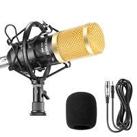 NW800 Professional Studio Microphone+Shock Mount+Anti-wind Foam Cap+Cable(Black)