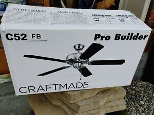 Craftmade C52 BN 52 inch Brushed Nickel Ceiling fan - 5 Blade White