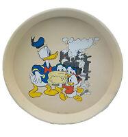 Vintage Disney Metal Serving Tray Donald Duck Nephews Cooking Enesco