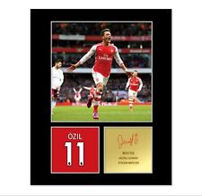 Mesut Ozil Signed Photo Mount (Pre Printed Autograph) Gift For an Arsenal Fan