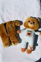 "14"" VINTAGE TOMY UNDERCOVER BEARS BROWN BABY TEDDY BEAR STUFFED ANIMAL PLUSH TOY"