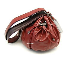 MIMCO SMALL COCOON LEATHER BAG IN POMEGRANATE BNWT RRP$349
