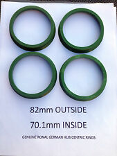 Ronal Germany 82mm to 70.1mm LZ-VT Wheel Hub Centric Rings (Set of 4)