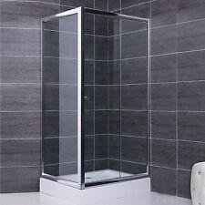 Box doccia 75x120 parete fissa e porta scorrevole in cristallo 6 mm trasparente