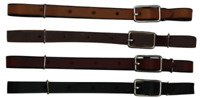 All Leather Buckle Curb Strap