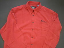 TEXAS INSTRUMENTS M-Large Red Long Sleeve Button Front Dress Shirt TI-83 TI-84