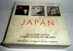 JAPAN COLLECTORS EDITION 3 LIMITED EDITION PICTURE DISCS CD ALBUMS