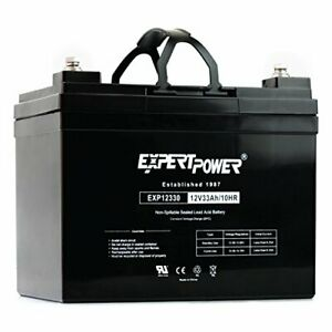 ExpertPower 12v 33ah Rechargeable Deep Cycle Battery EXP1233