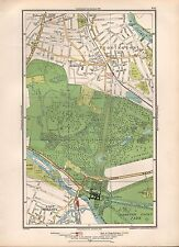1936 LARGE SCALE MAP -  LONDON FULWELL TEDDINGTON BUSHEY PARK EAST MOLESLEY HAMP