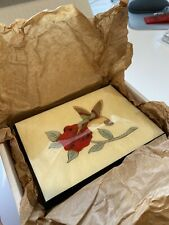 Giglio Asla Sorrento Italy Wood Inlaid Music Box Hummingbird Design With Key