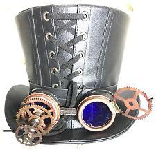 3D científicos locos Mirada de Cuero Sombrero De Copa Con Lente Azul Gafas 60cm