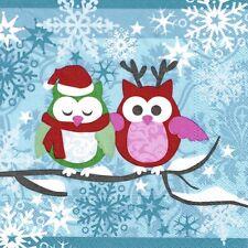"""Weihnachtsserviette """"Snow Owls"""" - 20 Stück - Serviette mit Eulen"""