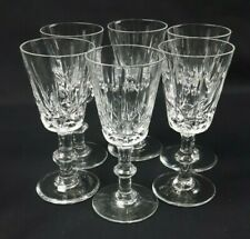Brierley Ascot Cut Crystal Sherry Port Glasses x6