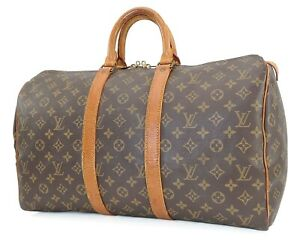 Authentic LOUIS VUITTON Keepall 45 Monogram Canvas Duffel Bag #40278