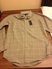 Van Heusen  Size Small Men's Dress Shirt NWT KHA Timberwolf