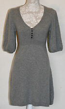 100% CASHMERE S/10 OASIS SILVER MARL FIT & FLARE KITTEN SOFT BEAUTIFUL DRESS