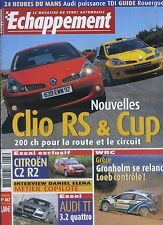ECHAPPEMENT n°467 07/2006 CLIO RS & Cup CITROEN C2 R2 AUDI TT 3.2 QUATTRO