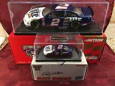 RUSTY WALLACE #2 Miller Lite 1998 RCCA 1/24 CW Bank & 1/64 HO Car w/ Bases SET