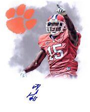 Coty Sensabaugh hand signed autographed 8x10 football photo Clemson Tigers