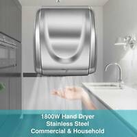1800W Electric Stainless Steel Commercial and Household Auto Hand Dryer