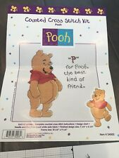 """Vintage WINNIE THE POOH """"P"""" Is For POOH Counted Cross Stitch Pattern GUC"""