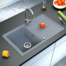 Granit Spüle Küchenspüle Einbauspüle Auflage Spülbecken Küche Reversibel  Grau