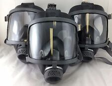 Scott/SEA Domestic Preparedness 40mm NATO NBC **Lot of 3** Gas Masks / Open Box