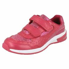 52f8e637e Girls Clarks Glitter Trainers With Star Detail Piper Play UK 9 Infant Pink F