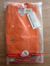 WORKSENSE/ OVERALLS/ COVERALLS/ 190GSM/ LIGHT WEIGHT/ WS1124OR/ ORANGE/ 97S