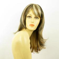Perruque femme mi-longue méchée blond clair méché cuivré choco LILI ROSE 15613H4