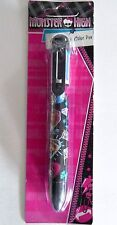 MONSTER HIGH (TM) 6 COLOR PEN WITH CLIP SCHOOL SUPPLIES FREE USA SHIP NEW MH