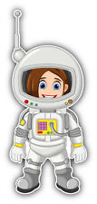 Cartoon Astronaut Car Bumper Sticker Decal 3'' x 6''