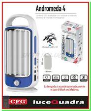 luce emergenza casa led lampada torcia ricaricabile portatile ANDROMEDA 4 dimmer