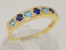 Anniversary Sapphire Round Yellow Gold Fine Rings