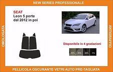 pellicola oscurante vetri SEAT leon dal 2012 in poi kit posteriore