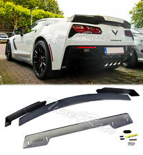 For 14-Up Corvette C7 Stage 3 Rear Trunk Spoiler Upgrade Kit Stingray Z06 Z07