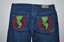 Coogi Jeans 9 10 Ladies Cotton Stretch Vintage Washed Denim Metal Tab Crown