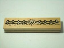 Heart Lace Border Rubber Stamp Crafts