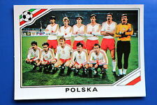 Panini WC MEXICO 86 STICKER N. 365 POLSKA TEAM WITH BACK VERY GOOD/MINT