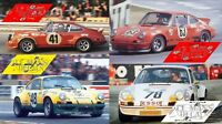Calcas Porsche 911 Carrera RS Le Mans 1973 1:32 1:43 1:24 1:18 64 87 slot decals