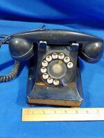Rotary Desk Telephone F1W Antique-VTG 1930s Bakelite Bell System Western