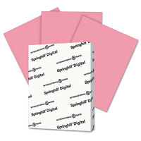 Springhill Digital Index Color Card Stock 110 lb 8 1/2 x 11 Cherry 250 Sheets