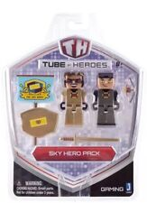 Tube Heroes - Sky Hero Pack - Figure with Accessories, Gold, Sword, Bow, Shield