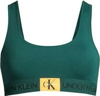 Calvin Klein Women Monogram Unlined Bralette, green / teal, Large